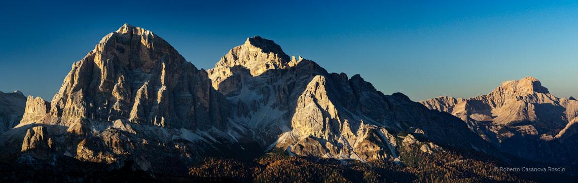 Il gruppo delle Tofane nelle Dolomiti d'Ampezzo